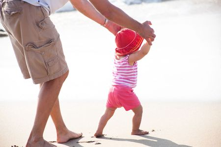A toddler is a young child who is of the age of learning to walk Stock Photo