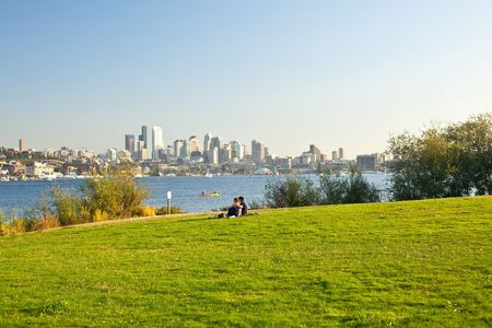 industrial park: Gas Works Park in Seattle, Washington is public park on the site of the former Seattle Gas Light Company gasification plant, located on the north shore of Lake Union