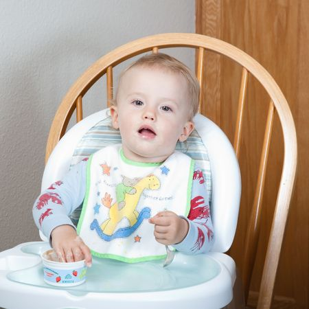 High chair is a piece of furniture used for feeding older babies and younger toddlers.