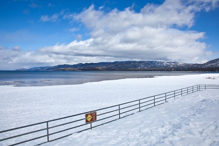 Lake Tahoe is a large freshwater lake in the Sierra Nevada mountains of the United States. Stock Photo - 6965915