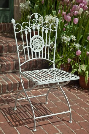 Garden furniture, also called patio furniture, is a type of furniture  specifically designed for outdoor use. Stock Photo - 7649638
