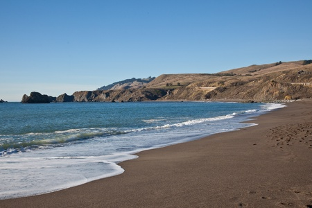 subunit: Goat Rock Beach is a sand beach in northwestern Sonoma County, California, United States. This landform is a sub-unit of Sonoma Coast State Beach, owned and managed by the State of California. Stock Photo