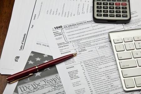 The Form 1040, U.S. Individual Income Tax Return, is the starting form for personal (individual) Federal income tax returns photo
