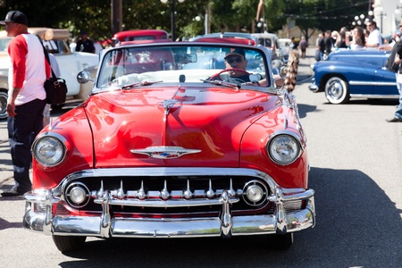 custom car: SAN JOSE, CA, USA - APRIL 9: Bombs United Car Show & Picnic April 9, 2001 in San Jose, CA, USA Editorial