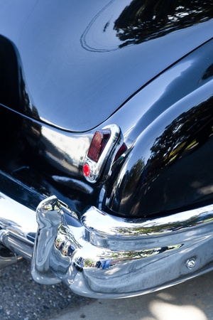 with reflection: SAN JOSE, CA, USA - APRIL 9: Bombs United Car Show & Picnic April 9, 2001 in San Jose, CA, USA Editorial