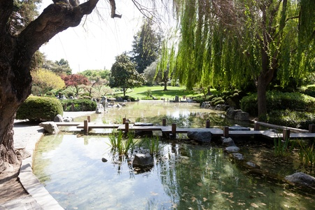 Gardens in traditional Japanese style, can be found at private homes, in neighborhood or city parks, and at historical landmarks such as Buddhist temples and old castles. Фото со стока
