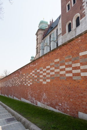 casimir: The Gothic Wawel Castle in Cracow in Poland was built at the behest of Casimir III the Great Stock Photo