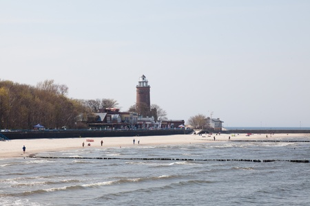 The lighthouse was built in 1945 on the ruins of the fort from the eighteenth century. Standard-Bild