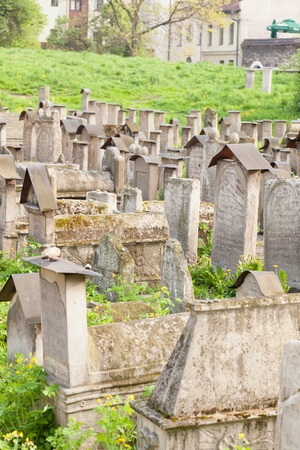 jewish community: Old Jewish cemetery is located beside the Remuh Synagogue at 40 Szeroka Street in the historic Kazimierz district Editorial