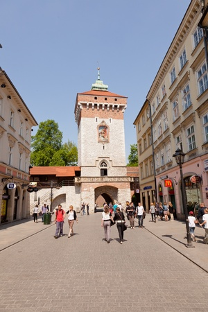 Florian Gate in Poland , is one of the best-known Polish Gothic towers