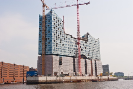 Elbphilharmonie Hamburg is a concert hall under construction in the HafenCity quarter of Hamburg, Germany