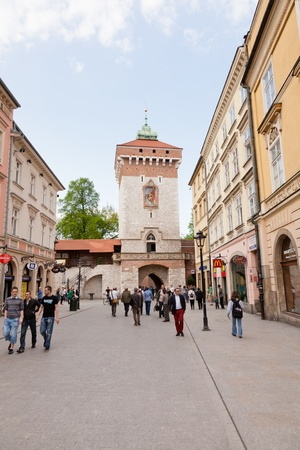 Florian Gate in Kraków , Poland , is one of the best-known Polish Gothic towers