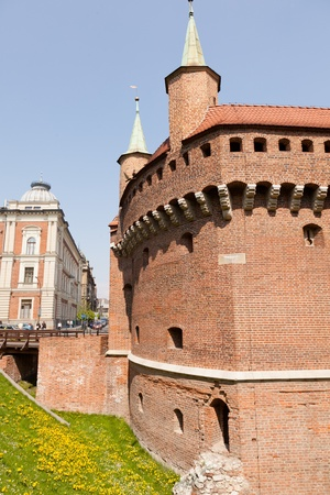 Kraków barbican is a barbican – a fortified outpost once connected to the city walls.