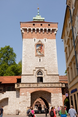 Florian Gate in Kraków , Poland , is one of the best-known Polish Gothic towers photo