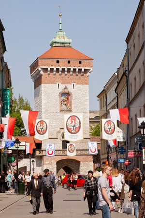 Florian Gate in Poland, is one of the best-known Polish Gothic towers