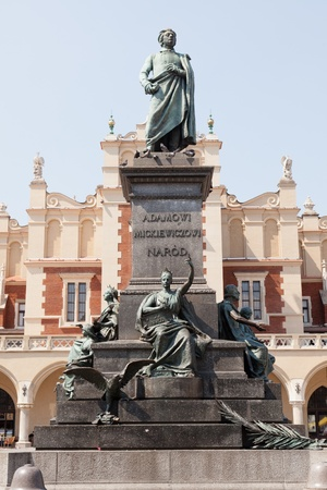 mickiewicz: Adam Mickiewicz Monument in Krak,  is one of the best known bronze monuments in Poland