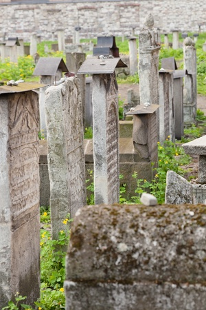 Old Jewish cemetery is located beside the Remuh Synagogue at 40 Szeroka Street in the historic Kazimierz district of Krak Stock Photo - 10795792