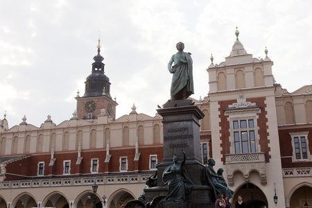 mickiewicz: Adam Mickiewicz Monument in Krakow,  is one of the best known bronze monuments in Poland