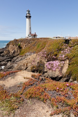 Pigeon Point Lighthouse is a lighthouse built in 1871 to guide ships on the Pacific coast of California. photo