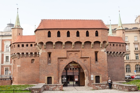 outpost: Krakow barbican is a barbicans fortified outpost once connected to the city walls.