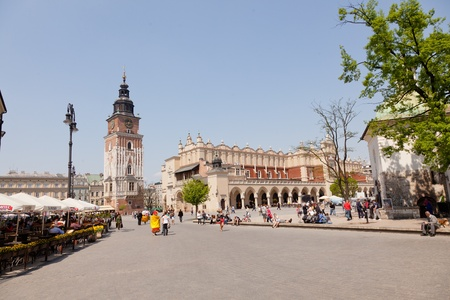 Renaissance Sukiennice (Cloth Hall, Drapers Hall) in Kraków, Poland, is one of the citys most recognizable icons.