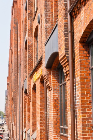 Speicherstadt in Hamburg, Germany is the worlds largest timber-pile founded warehouse district of the world.