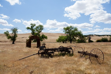 California ghost town from gold rush west of Mariposa