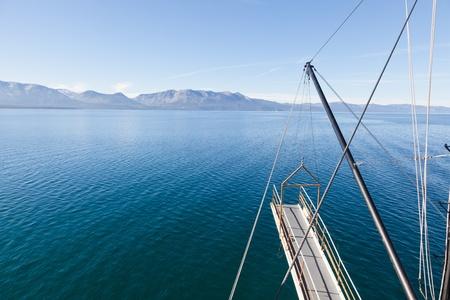 pile engine: Sightseeing cruise around Emerald Bay on Lake Tahoe on Tahoe Queen