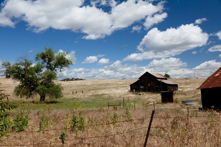 gold rush: California ghost town from gold rush west of Mariposa