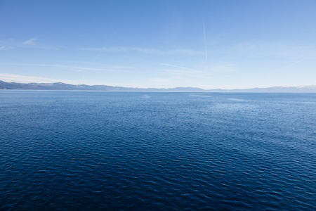Lake Tahoe is a large freshwater lake in the Sierra Nevada mountains of the United States. Stock Photo - 12161391