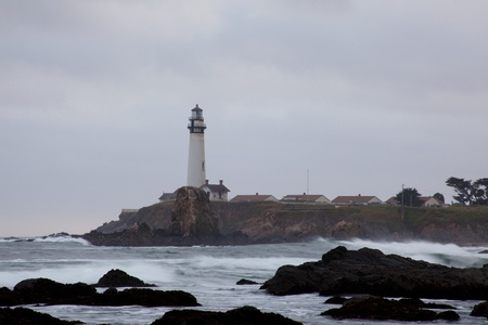 Pacific ocean coast near Pigeon Point Lighthouse. photo