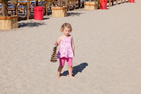 Beach near boardwalk in Santa Cruz, California photo