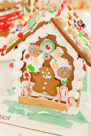 encountered: Gingerbread dough is used to build gingerbread houses similar to the witchs house encountered by Hansel and Gretel.