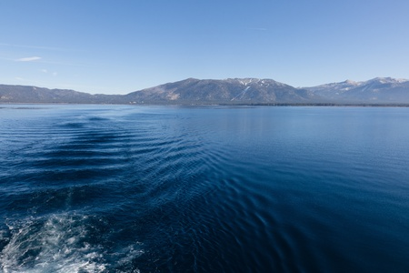 Lake Tahoe is a large freshwater lake in the Sierra Nevada mountains of the United States. Stock Photo - 12876040