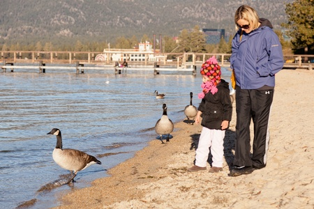 Lake Tahoe is a large freshwater lake in the Sierra Nevada mountains of the United States. Stock Photo - 12878359