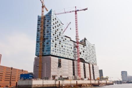 Elbphilharmonie Hamburg is a concert hall under construction in the HafenCity quarter of Hamburg, Germany Stock Photo - 12971547