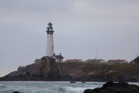 Pacific ocean coast near Pigeon Point Lighthouse. photo