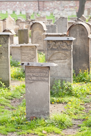 Old Jewish cemetery is located beside the Remuh Synagogue at 40 Szeroka Street in the historic Kazimierz district of Kraków. Stock Photo - 13040832