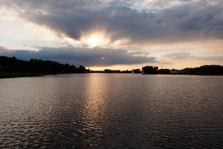 aring: Lake Malta is an artificial lake in Pozna Aring, Poland.