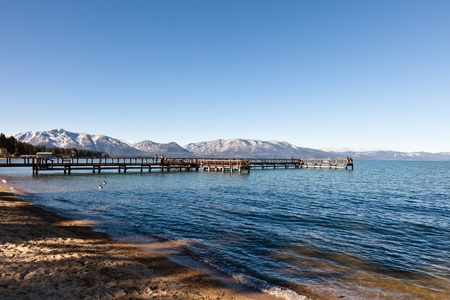 Lake Tahoe is a large freshwater lake in the Sierra Nevada mountains of the United States. Stock Photo - 13128375