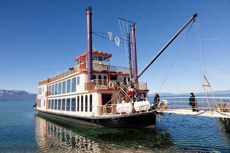 Sightseeing cruise around Emerald Bay on Lake Tahoe on Tahoe Queen