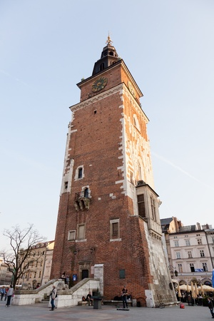 polska monument: Town Hall Tower in Poland is one of the main focal points of the Main Market Square in the Old Town district