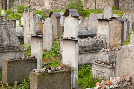 Old Jewish cemetery is located beside the Remuh Synagogue at 40 Szeroka Street in the historic Kazimierz district  Stock Photo - 13205637