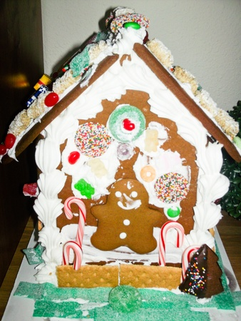 Gingerbread dough is used to build gingerbread houses similar to the witchs house encountered by Hansel and Gretel. photo