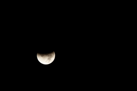 Lunar eclipse occurs when the Moon passes behind the Earth so that the Earth blocks the Suns rays from striking the Moon.