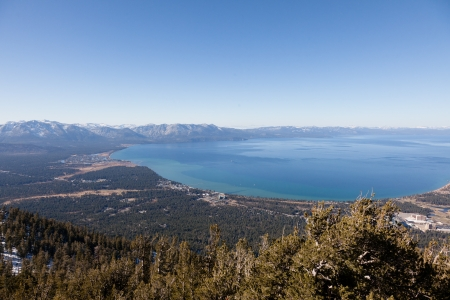 Lake Tahoe is a large freshwater lake in the Sierra Nevada mountains of the United States. Stock Photo - 13645978