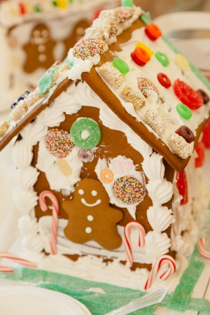 encountered: Gingerbread dough is used to build gingerbread houses similar to the encountered by Hansel and Gretel.