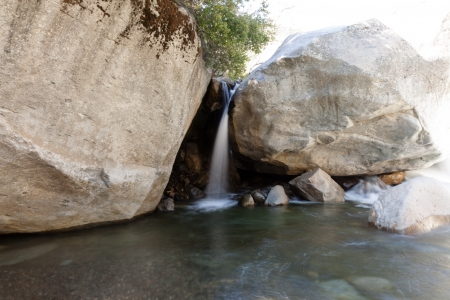 Waterfall near Buckeye Flat in Sequoia National Park photo