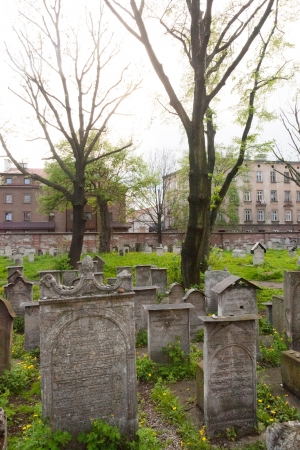 Old Jewish cemetery is located beside the Remuh Synagogue at 40 Szeroka Street in the historic Kazimierz district of Krak & Atilde photo