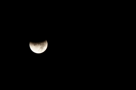 Lunar eclipse occurs when the Moon passes behind the Earth so that the Earth blocks the Suns rays from striking the Moon. photo